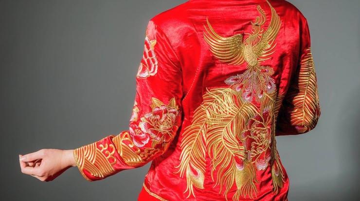 秀鳳中式禮服龍鳳褂與秀禾服